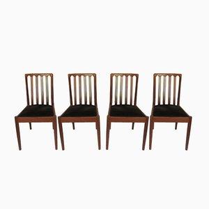 Vintage Stühle aus Teak, 4er Set