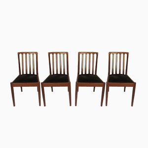 Vintage Teak Chairs, Set of 4