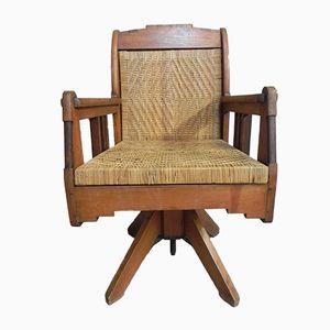 Art Deco Mahogany Swivel Chair