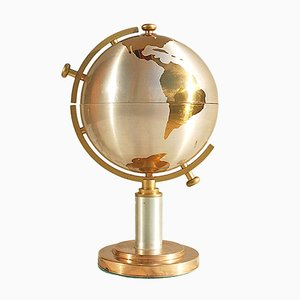 Mid-Century Brass Globe Cigarette Holder