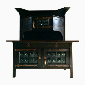 Oak Arts and Crafts Sideboard by Leonard Wyburd for Liberty, 1920s