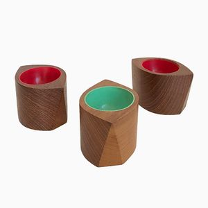 Teak Egg Cups by Sigvard Nilsson for Söwe Konst, 1950s, Set of 3