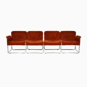 Vintage Italian Modular Seats, Set of 4