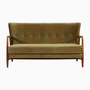 Scandinavian Velvet Sofa, 1940s
