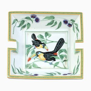 Toucan Porcelain Ashtray by Hermès, 1980s