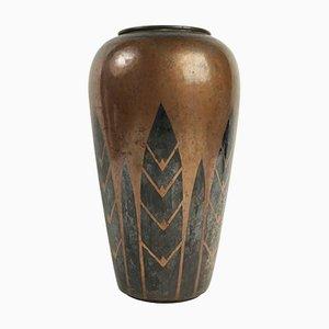 Vintage Dinanderie Vase von Luc Lanel für Christofle