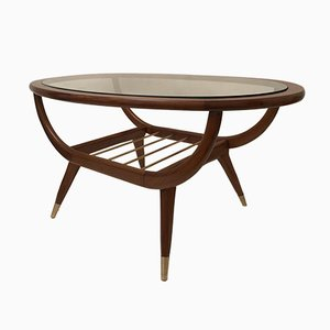 Oval Teak Coffee Table