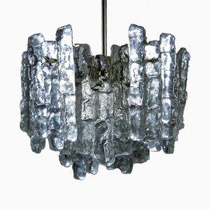 Lámpara de araña vintage de cristal hielo de J.T. Kalmar