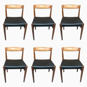 Danish Dining Chairs by H.W. Klein for Bramin, 1960s, Set of 6