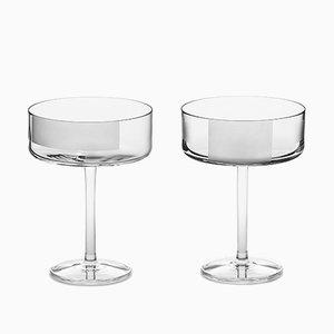 Copas de cóctel irlandesas de cristal hechas a mano de Scholten & Baijings para J. HILL's Standard. Juego de 2