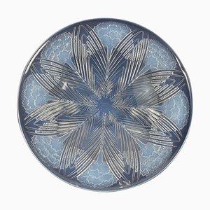 Vintage Oeillets Schale aus Opalglas von René Lalique