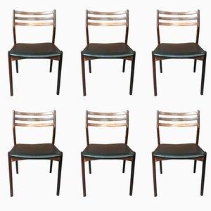 Danish Rosewood Dining Chairs by Vestervig Eriksen for Broderna Tromborg, 1960s, Set of 6