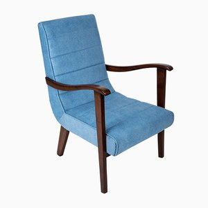 Mid-Century Blue Armchair, 1960s