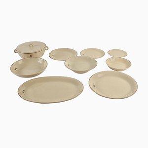 Vajilla de 95 piezas vintage de cerámica de jean Luce