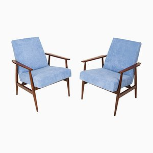 Baby Blue Dante Armchairs by Henryk Lis, 1960s, Set of 2
