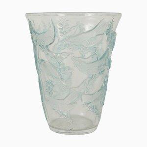 Vaso vintage con tordi di René Lalique