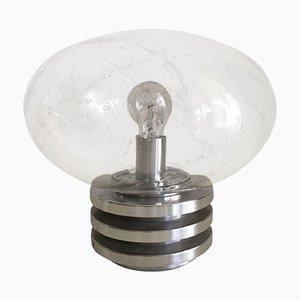 Space Age Tischlampe mit handgeblasenem Sideglas von Doria