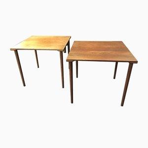 Tables d'Appoints Mid-Century par Peter Hvidt & Orla Mølgaard-Nielsen pour France & Søn, Danemark, Set de 2