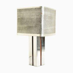 Lampada da scrivania vintage quadrata in alluminio