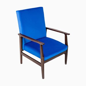 Type B-14 Royal Blue Vintage Armchair, 1960s