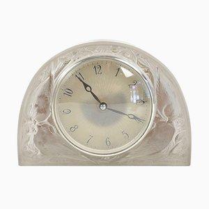 Pendule Moineaux Vintage par René Lalique pour ATO