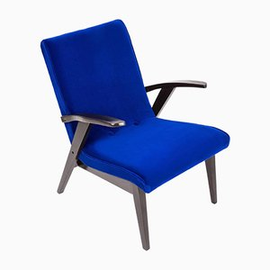 Vintage Blue Armchair by Mieczyslaw Puchala, 1960s