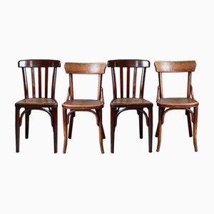 Chaises de Bistro Vintage de Fischel, Set de 4