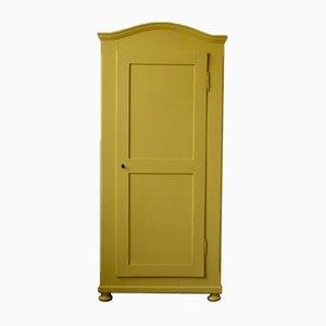 Gelber Kleiderschrank oder Schrank, 1940er