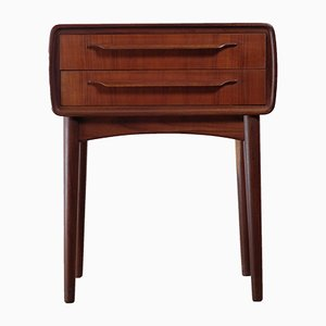 Teak Nightstand by Johannes Andersen for CFC Silkeborg, 1960s