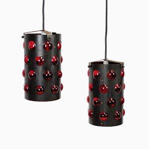 Lampade da soffitto vintage a forma di cilindro, set di 2