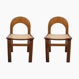 Vintage Vienna Chairs aus Schilfrohr, 1970er, 2er Set