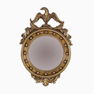 Gewölbter goldener Vintage Spiegel mit Adler