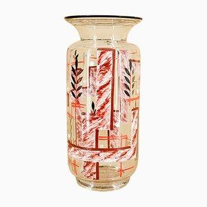 Jarrón Art Déco de vidrio, años 20