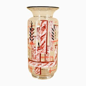 Vaso Art Déco in vetro, anni '20