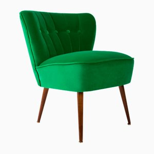 Mid-Century Green Velvet Armchair from Karl Lindner, 1960s