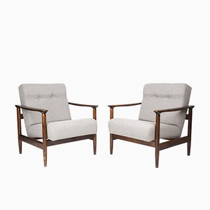 Beige GFM-142 Armchairs by Edmund Homa, 1960s, Set of 2
