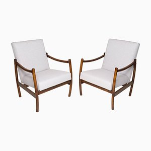Beige Club Armchairs, 1960s, Set of 2