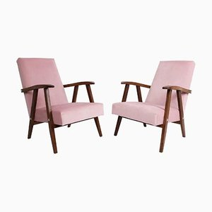 Baby Pink VAR Armchairs, 1960s, Set of 2