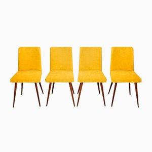 Gelbe Stühle, 1960er, 4er Set