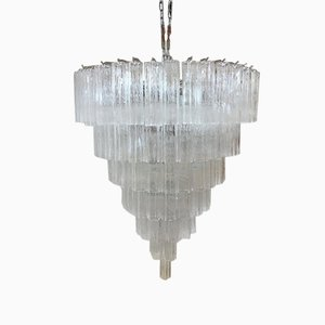 Large Murano Glass Sputnik Tronchi Chandelier from Italian light design