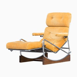French Rocking Lounge Chair from Lama, 1960s