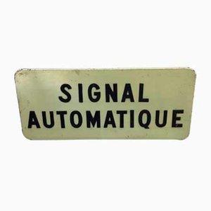 Französisches Vintage Eisenbahnkreuzung Straßenschild