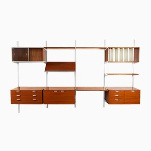 Walnut Wall Unit by George Nelson for Herman Miller, 1970s