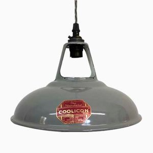 Grey Industrial Pendant Light from Coolicon, 1950s