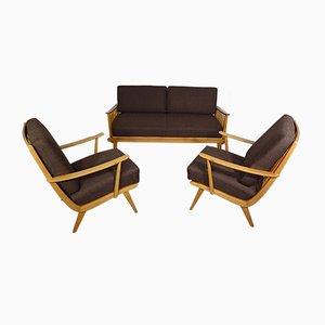 Sofá cama y dos sillones de Walter Knoll, años 50