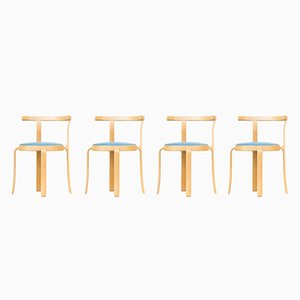 Chairs by Rud Thygsen & Johnny Sorensen for Magnus Olesen, 1980s, Set of 4