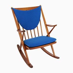 Vintage Model 182 Rocking Chair by Frank Reenskaug for Bramin