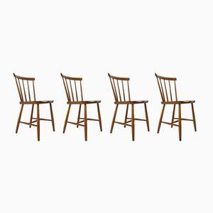 Scandinavian Bistro Chairs, 1960s, Set of 4