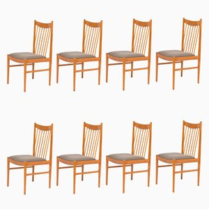 Chaises de Salle à Manger en Teck par Arne Vodder pour Sibast, 1960s, Set de 8