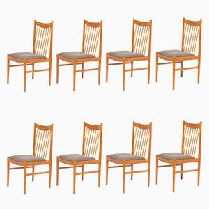 Esszimmerstühle aus Teak von Arne Vodder für Sibast, 1960er, 8er Set